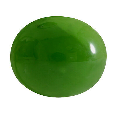 5.71-ct Natural Excellent Cut Oval Shape Green Nephrite Jade Loose Gemstone