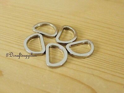 d ring d-rings purse ring alloying silver 19 mm 3/4 inch 14pcs G37