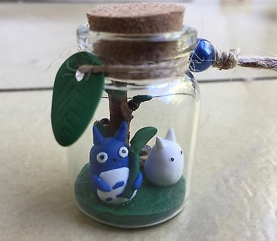 Studio Ghibli My Neighbour Totoro - Polymer clay Totoro friends in a tiny bottle