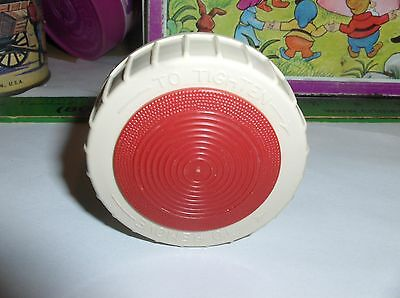 Red & Tan Plastic Thermos Stopper-Fits Many Thermos Brand Thermoses-Stopper#722