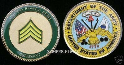 Sergeant Challenge Coin Us Army Veteran Gift Usa Sgt E-5 Promotion Pin Up Wow