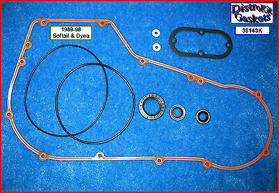 Primary Cover (Beaded) Gasket & Seal Kit 89-99 Evo Softail & Dyna, ref. 60539-94