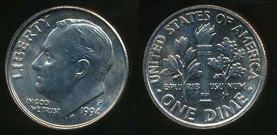 United States, 1994-P Dime, Roosevelt - Uncirculated