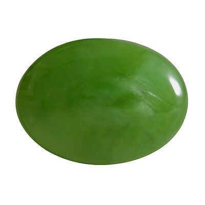 10.35-ct Natural Excellent Cut Oval Shape Green Nephrite Jade Loose Gemstone