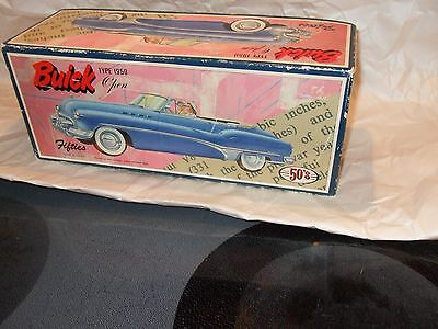 LOOK! 1950s Buick tin friction car (JAPAN) New in box with title awesome!-WQW!