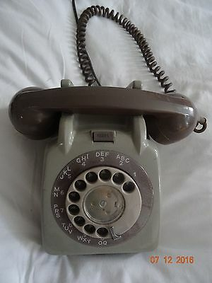 VINTAGE TELEPHONE GPO 706L GREY  ROTARY DIAL 1960s