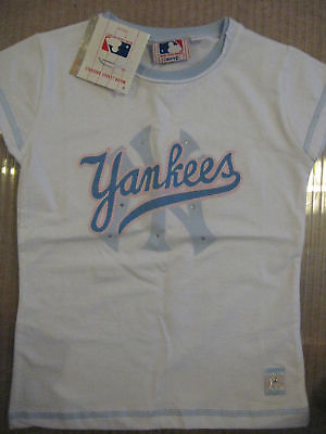 NEW GIRL'S OFFICIAL NY YANKEES NEW YORK YANKEES T SHIRT M 152 cms 10-12 YEARS