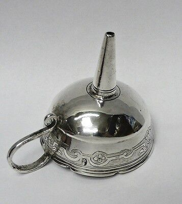 Antique German Silver Spirit Funnel 1720 stock id 8223