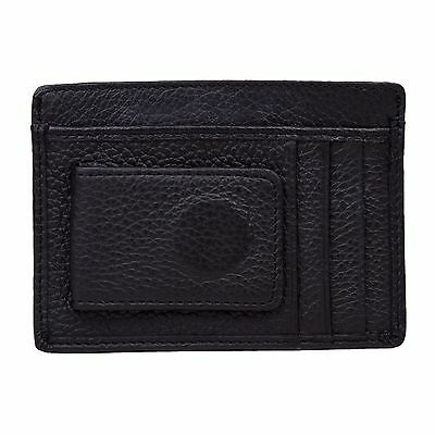 Genuine Leather thin Money ID Coin Purses Holders credit card holder Mini Wallet