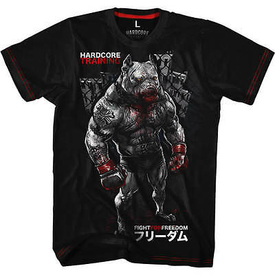 T-Shirt Hardcore Training Pitbull City MMA Fitness Kampfsport Boxen Training