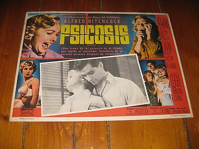 Psycho (1960) Janet Leigh, Alfred Hitchcock Original Lobby Card