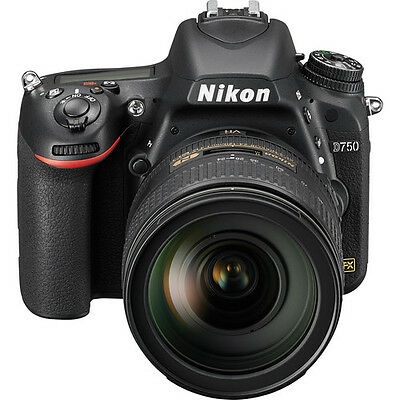 Nikon D750 Digital SLR Camera w/ AF-S NIKKOR 24-120mm f/4G ED VR Lens @ UK