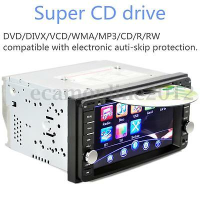 6.2'' Universal 2 Din Bluetooth Coche Estéreo Reproductor DVD USB/SD/TV Player