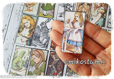 24 Alice in the wonderland paper ephemera,scrapbook,Tea Party Theme Favour Tags