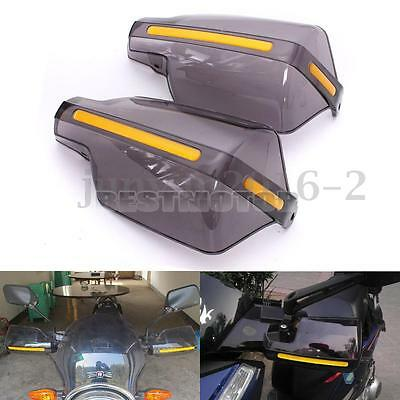 """2 pc Universal 7/8"""" 22mm Motorcycle Bike Handguards Hand Guards Protectors Clear"""