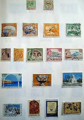 35 Used Cyprus Stamps
