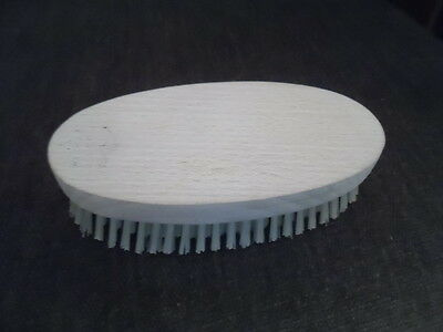 Gentlemans hair / clothes brush with wooden top