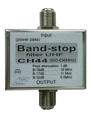 UHF one channel-stop filter FIX; UHF tunable notch filter  against interference