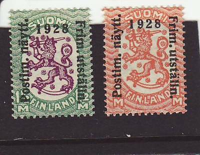 Finland 1928 MNH - Finland Stamp Exhibition - Overprint - set of 2 stamps