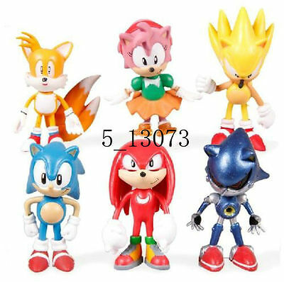 6pcs/set New SEGA Sonic the Hedgehog Figures Free Shipping New