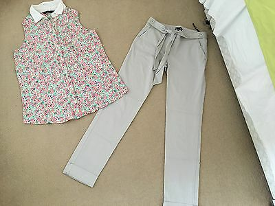 womens warehouse trousers and new look blouse