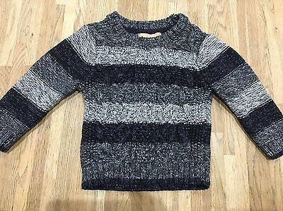 Baby Boys Next Thick Grey Jumper 12-18m Winter
