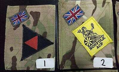 Various used MTP PCS BLANKING PATCHES, & UNION JACK FLAG