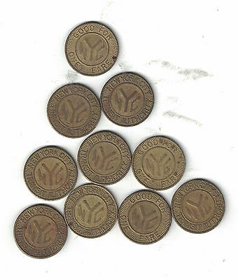 New York City Subway Tokens 10 Solid