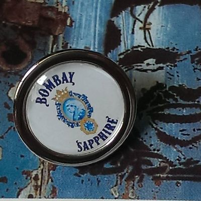 Unique! BOMBAY SAPPHIRE PIN cool BADGE designer TIE gin LAPEL gin and tonic g&t
