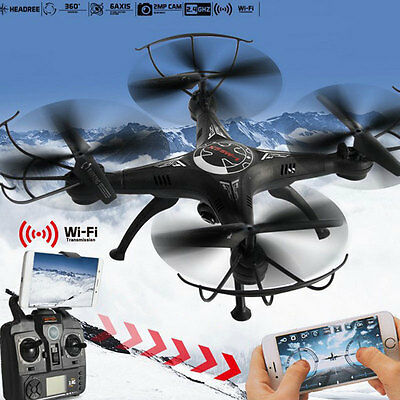 X5SW-1 WIFI Camera Drone FPV 2.4Ghz 4CH 4-Axis RC Quadcopter HD Explorer UK.