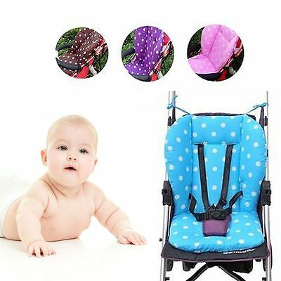 Infant Soft Seat Cushion Polka Dot Printed Baby Stroller Pad Cotton