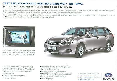 SUBARU LEGACY ESTATE 2.0i ES NAV LIMITED EDITION SALES SHEET
