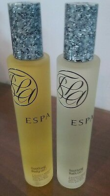 Espa soothing body oil and soothing bath oil