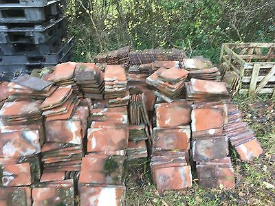 Old Reclaimed Hand Made Red Clay Roof Tiles Roofing Slate