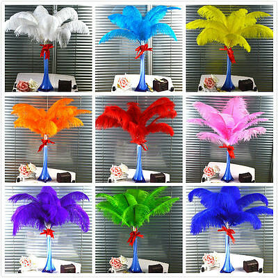 Wholesale High Quality Natural OSTRICH FEATHERS wedding 8-10'inch/20-30cm