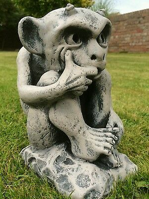 Cast Stone Gargoyle Garden Ornament Stone Sculpture Home Gift.