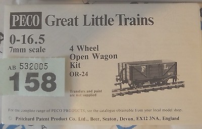 PECO OPEN WAGON  kit parts - O-16.5 / ON30 REF 158