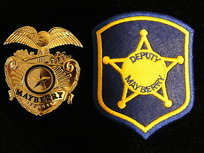 Barney Fife Mayberry Cap Badge prop Andy Griffith Show TV FREE Patch OR Keychain