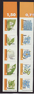 Finland 2002 MNH - Flowers -  complete set of 10 stamps
