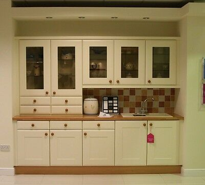 Cream Country Style Ex Display Kitchen Units With Appliances