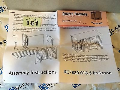 CHIVERS brake van kit parts - O-16.5 / ON30 REF 161/2