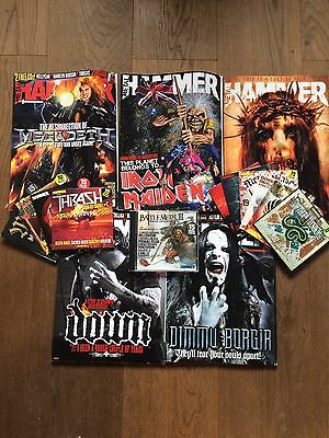 5 Metal Hammer Magazines With 11 CDs Excellent Condition
