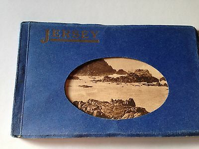 Jersey Postcard Book 12 Images 1930's Good Condition