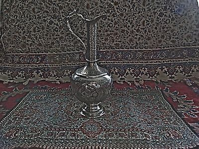 Persian silver ewer; Isfahan, 20th century; Signed, see photo/description