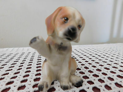 Handpainted, Vintage, ceramic, Beagle puppy. Made in Japan.