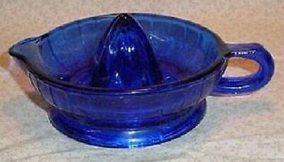 "7"" Cobalt Blue Glass Juicer Reamer"