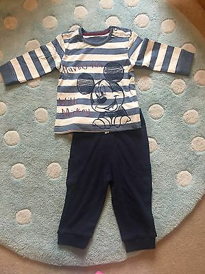 Disney Baby Boy 6-9 Months Mikey Mouse Outfit New