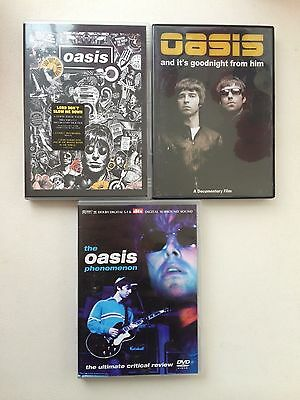 Collection of 3 Oasis DVDs (x3) - (Noel Gallagher, Liam Gallagher)