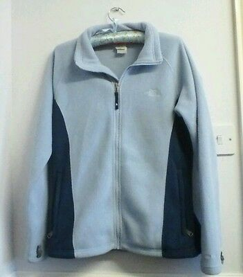 Womens the north face fleece size L/G blue