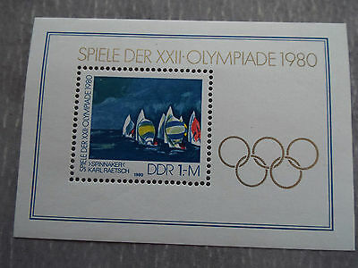 BF neuf Allemagne DDR 1980 : Jeux Olympiques de Moscou 1980